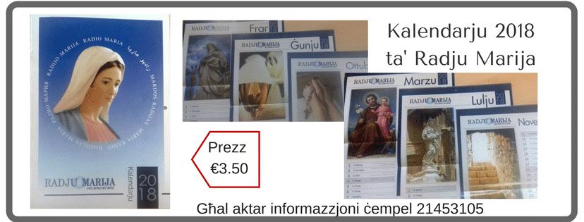 Kalendarju 2018ta' Radju Marija (1)