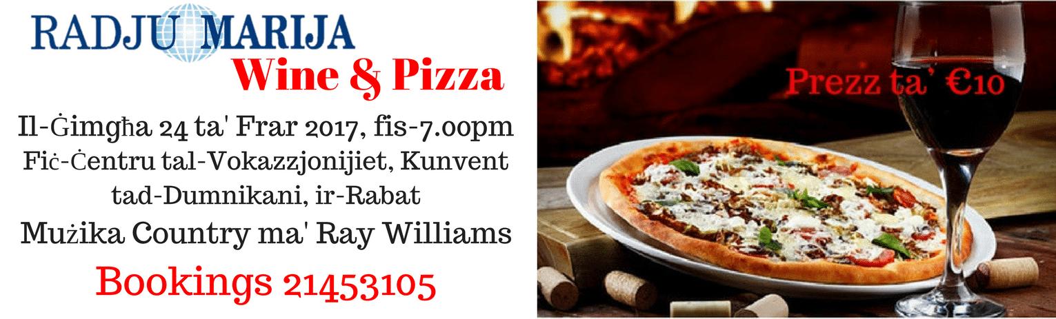Wine & Pizza website banner